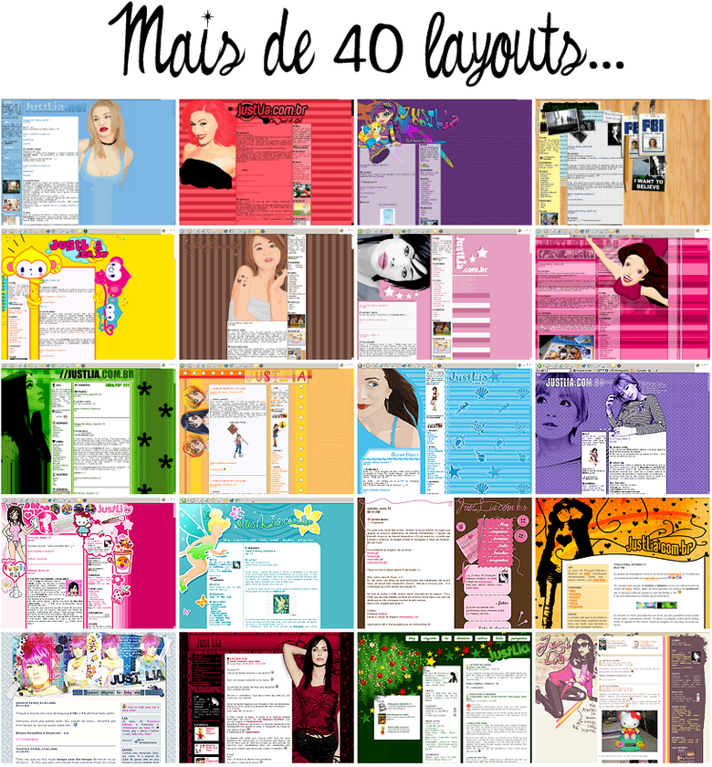 Layout antigo blog Justlia