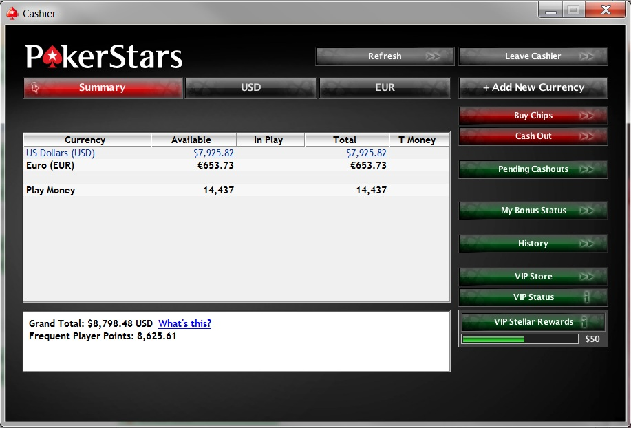 Pokerstars Cash Out