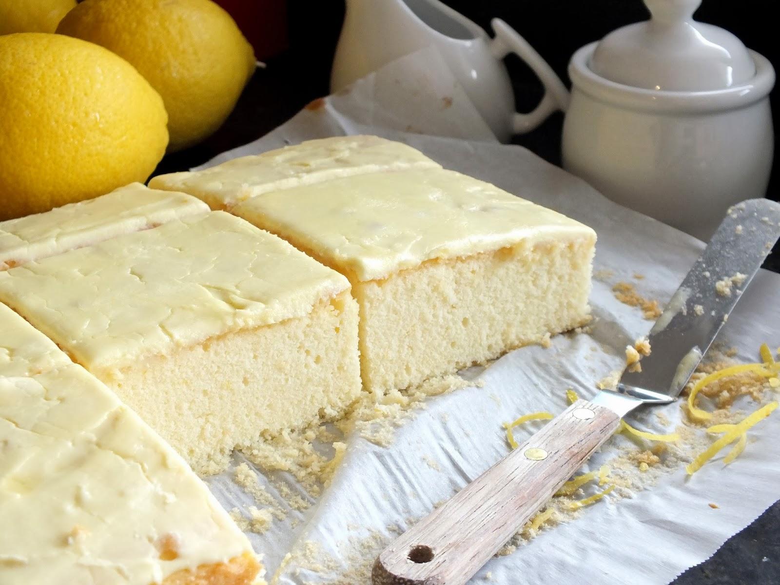Lemon Cake Squares In Baker