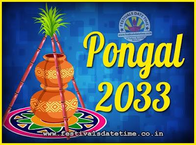 2033 Pongal Festival Date & Time, 2033 Thai Pongal Calendar