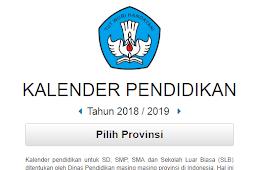 Download Kalender pendidikan Tahun Ajaran 2018/2019 Semua Provinsi