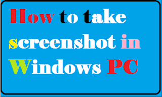 how to take screenshot in windows pc@myteachworld.com