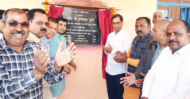 Launch of several development works done by Devendra Chaudhary in Nachauli village of Tigaon assembly