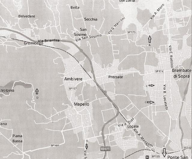0a533a069df630 La BTS indicata dalla lettera A è situata in via Ruggeri a Brembate... la  BTS indicata con la lettera B é situata in via Natta a Mapello... la BTS  indicata ...