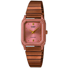 Ceas Casio Collection LQ-400R-5A de femei - bratara metalica bronz
