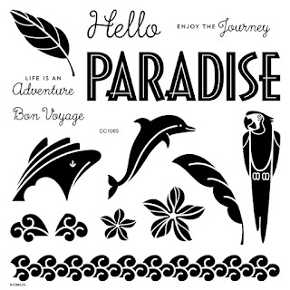 CTMH Clear Stamp Set Travel Beach Theme