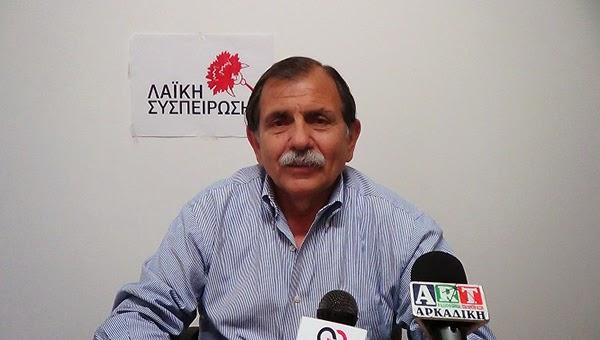 Παρέμβαση Βαγγέλη Γούργαρη στο ΠεΣυ για τη μελέτη εγκατάστασης νερού πηγής Αγ. Γεωργίου Κιβερίου (Αναβάλου)