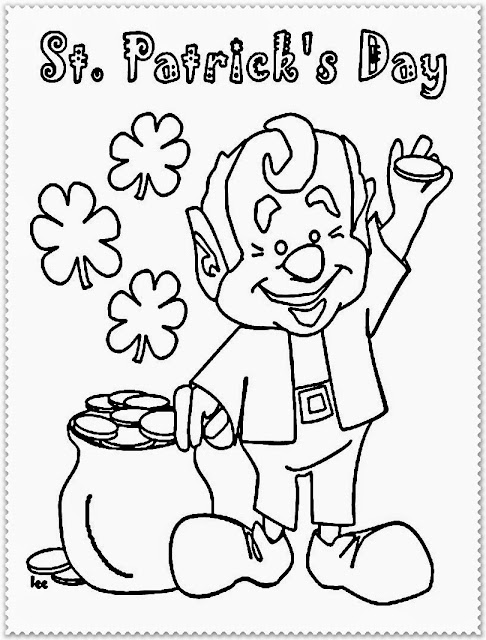 saint patrick day coloring pages printable