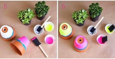 Cara Membuat Kerajinan Tangan Pot Warna-warni 3