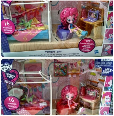 Equestria Girls Mini Glitter Pinkie Pie Sleepover