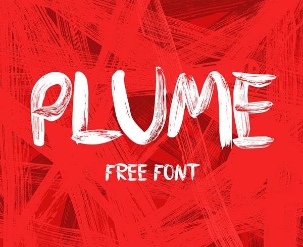Brush font terbaik 2017 - PLUME – Free Brush Font