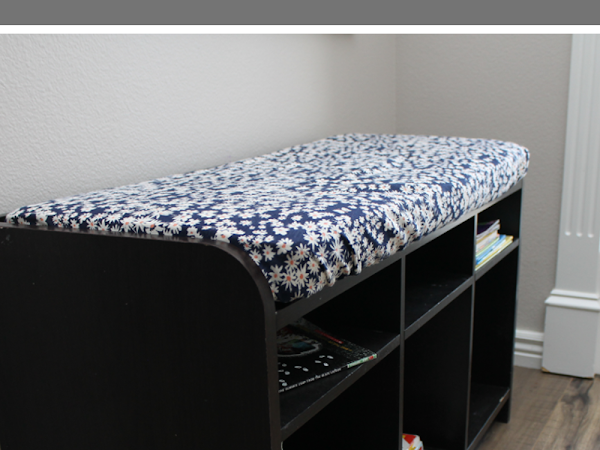 Hide Those Nasty Stains:  How to Make a Bench Cushion Cover
