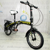 16 Inch Exotic ET16-2625TJ Folding Bike