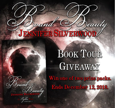 Book tour giveaway graphic: win one of two prize packs; ends December 12, 2018