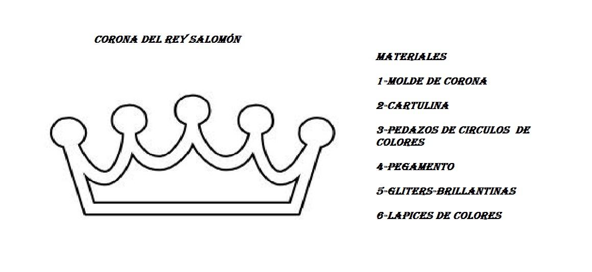 Manualidad El Rey Salomon: LA ORACION-: -LA ORACIÓN----Arte-Corona- Del Rey Salomón