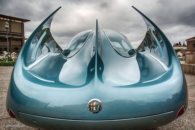 Alfa Romeo BAT 7 1950s Italian classic concept car