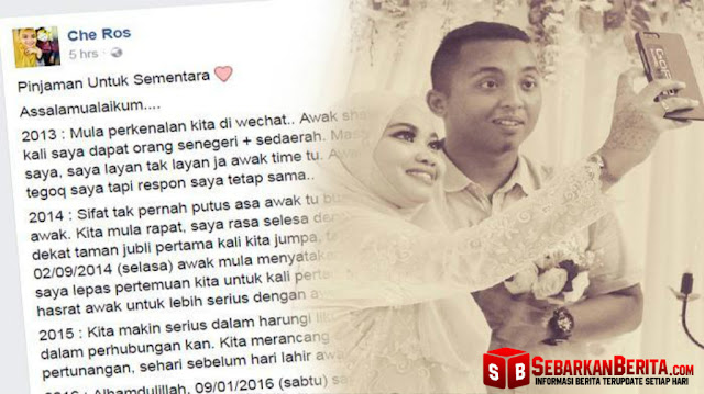 "Mengharukan! Calon Suaminya Meninggal Jelang Pernikahan, Wanita Ini Curhat di Facebook "" Awak Pinjaman Sementara """