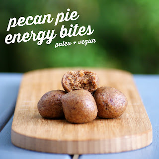 Easy Vegan No Bake Pecan Pie Energy Bites Recipe - gluten free, vegan, paleo, grain free, dairy free, egg free, healthy, sugar free, bliss balls, raw balls