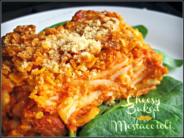 Cheesy Baked Mostaccioli Recipe, a classic family dinner main dish or dinner, bake 2 freeze 1 casserole! #mostacciolicasserole #cheese #pastadish #freezermeal