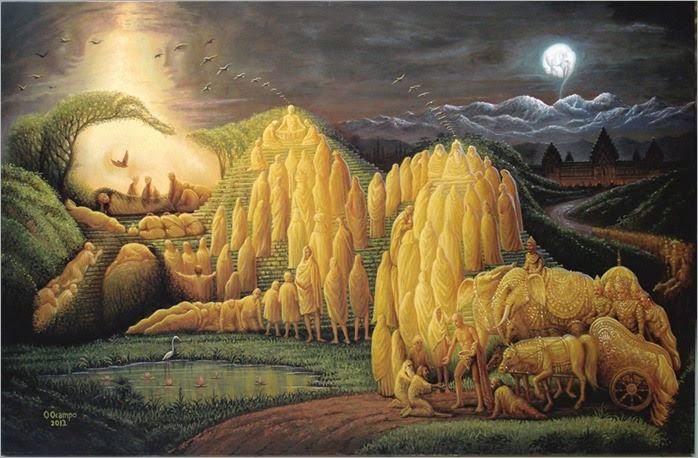 Evolução de Buda Siddharta - Octavio Ocampo e Suas Pinturas Cheias de Ilusões