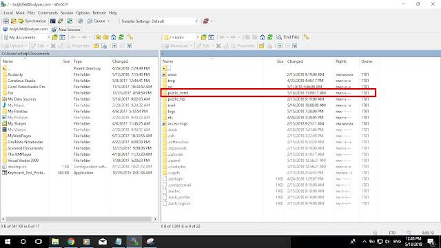 Kelas Informatika - File Eksplorer WinSCP