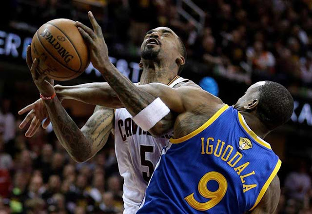 J.R. Smith claims account was hacked after tweeting 'Cavs in 7' following Warriors' Game 3 win