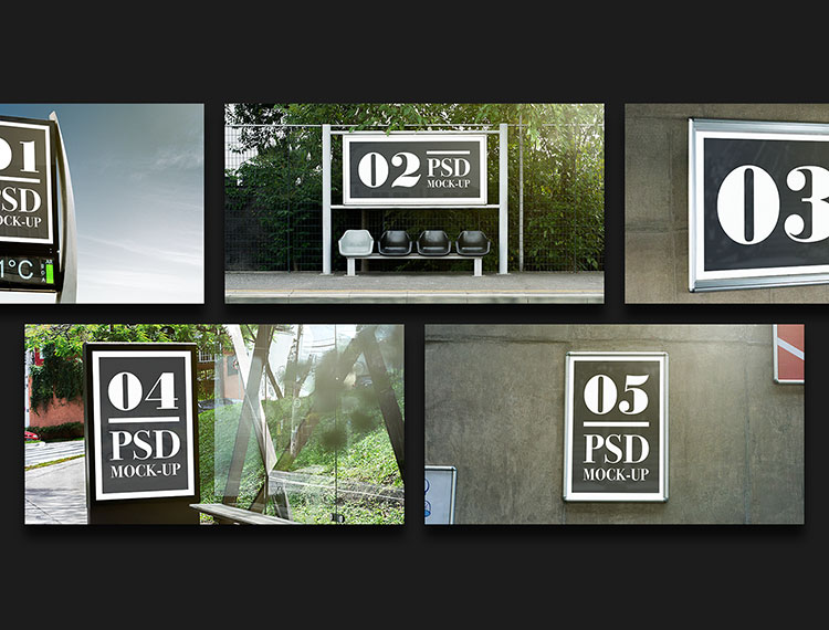 Free Outdoor Advertising Mockup PSD