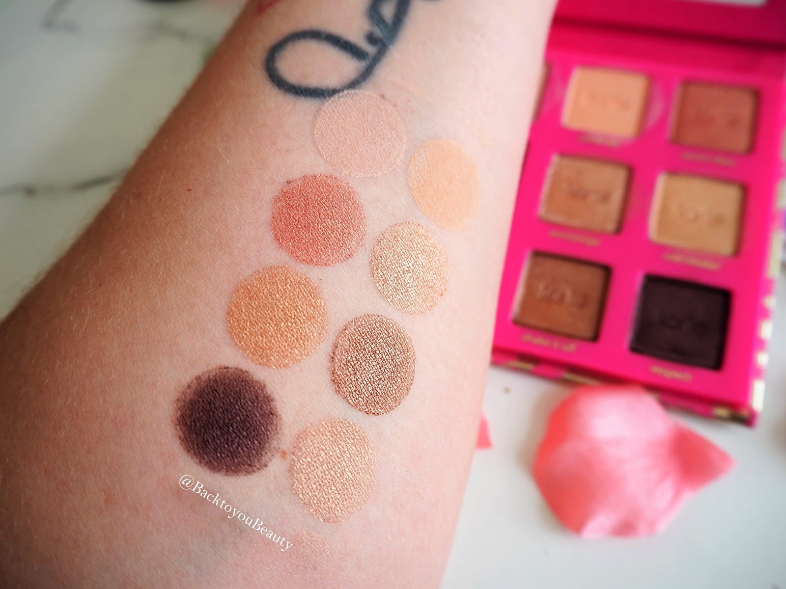 tarte Leave Your Mark Eye Shadow Palette swatches
