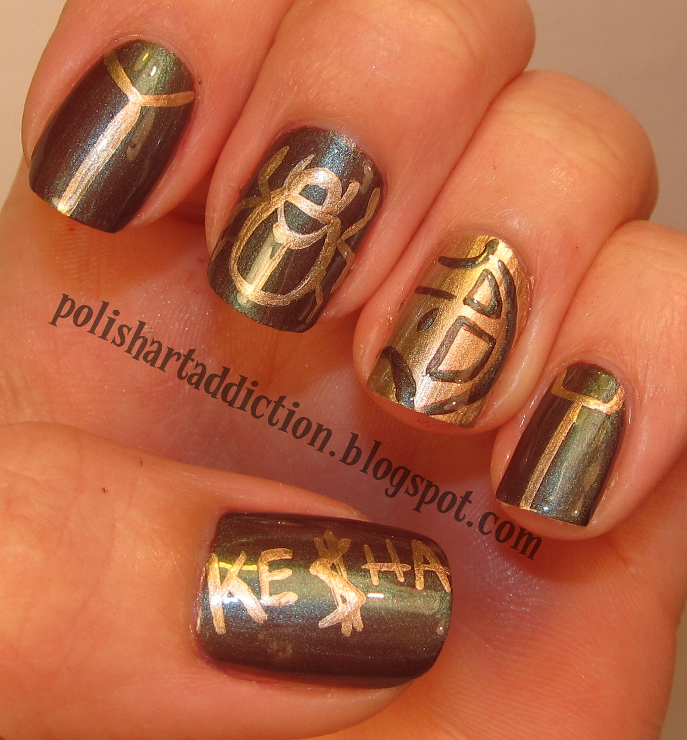 Franken Inpired Nail Art