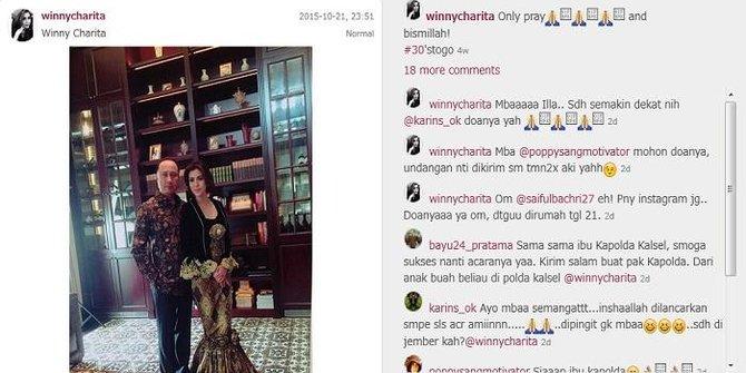 Presenter Cantik TV One 'Winny Charita' Dinikahi Kapolda Kalsel