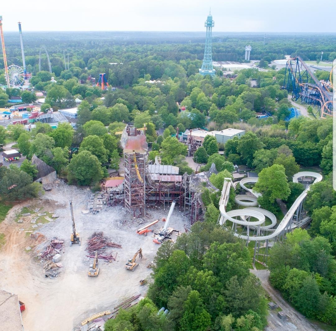 Kings Dominion S Twisted Timbers Update Amusementinsider The Front Page Of Theme Parks