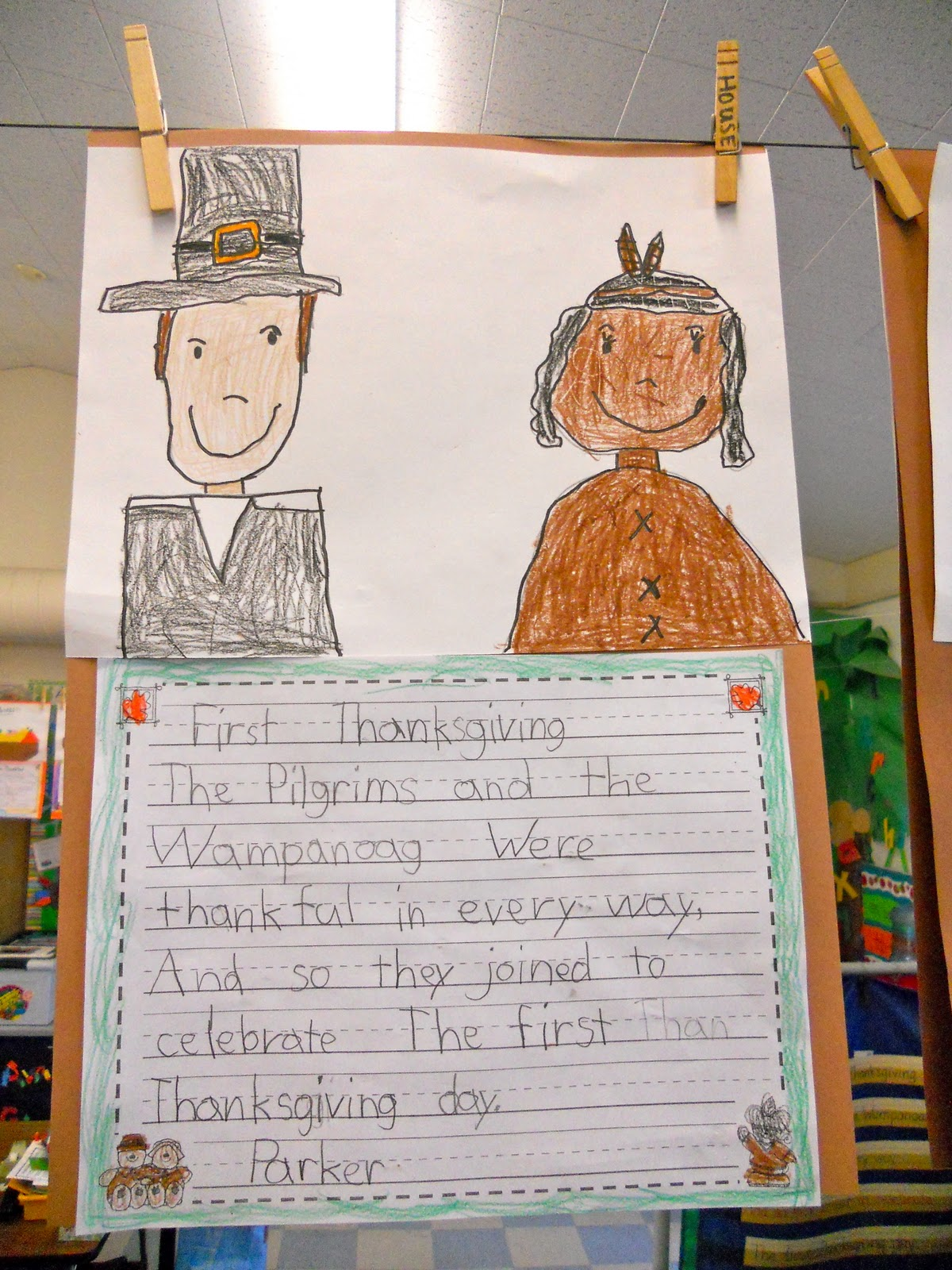 Teacher Bits And Bobs Thanksgiving Art A Couple Freebies