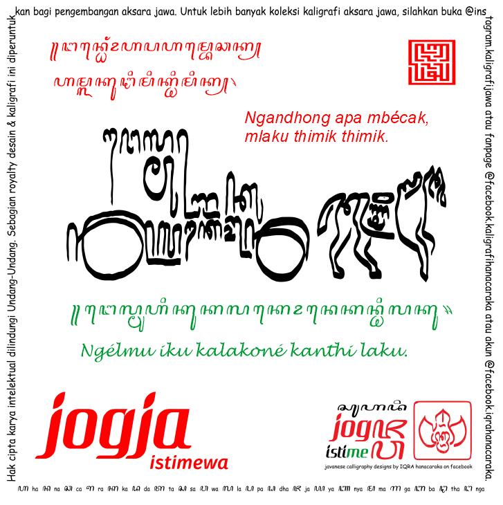 Tulisan Jawa ꦌꦈ Kaligrafi Aksara Jawa Kontemporer