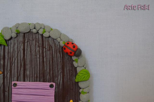puerta hadas magica fayry door polymer clay fimo arcilla polimerica