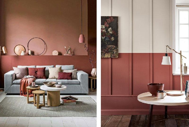 colore pareti bordeaux
