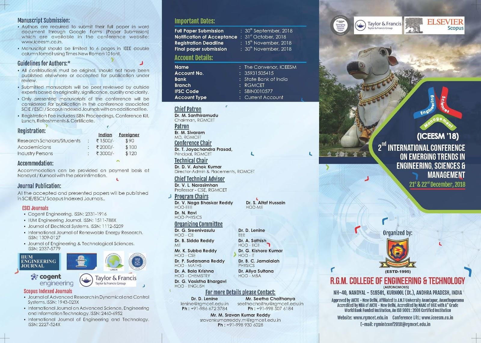 International Conference at Nandyal