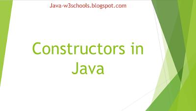 Constructors in Java,