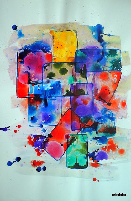 Maze, Abstract art painting by miabo enyadike