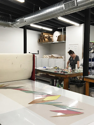 Laura Berman working at Pele Prints