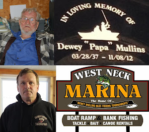 West Neck Marina (Home of the Dewey Mullins Memorial Bass Tourney Series)/Phone: 426-6735