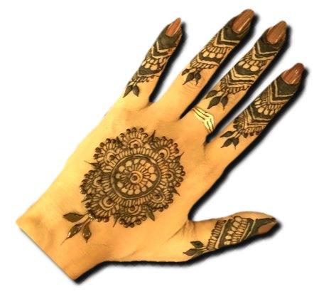 Modern Back Hand Stylish Henna