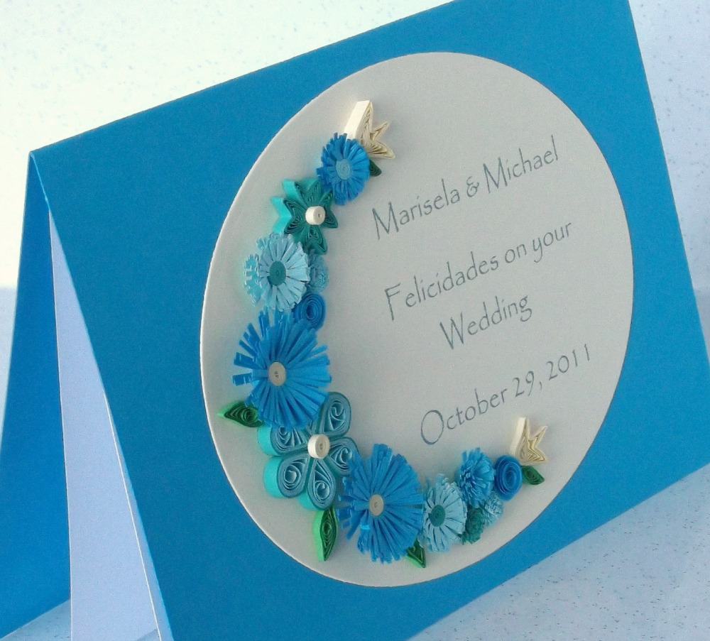 paper daisy cards  quilled wedding cards