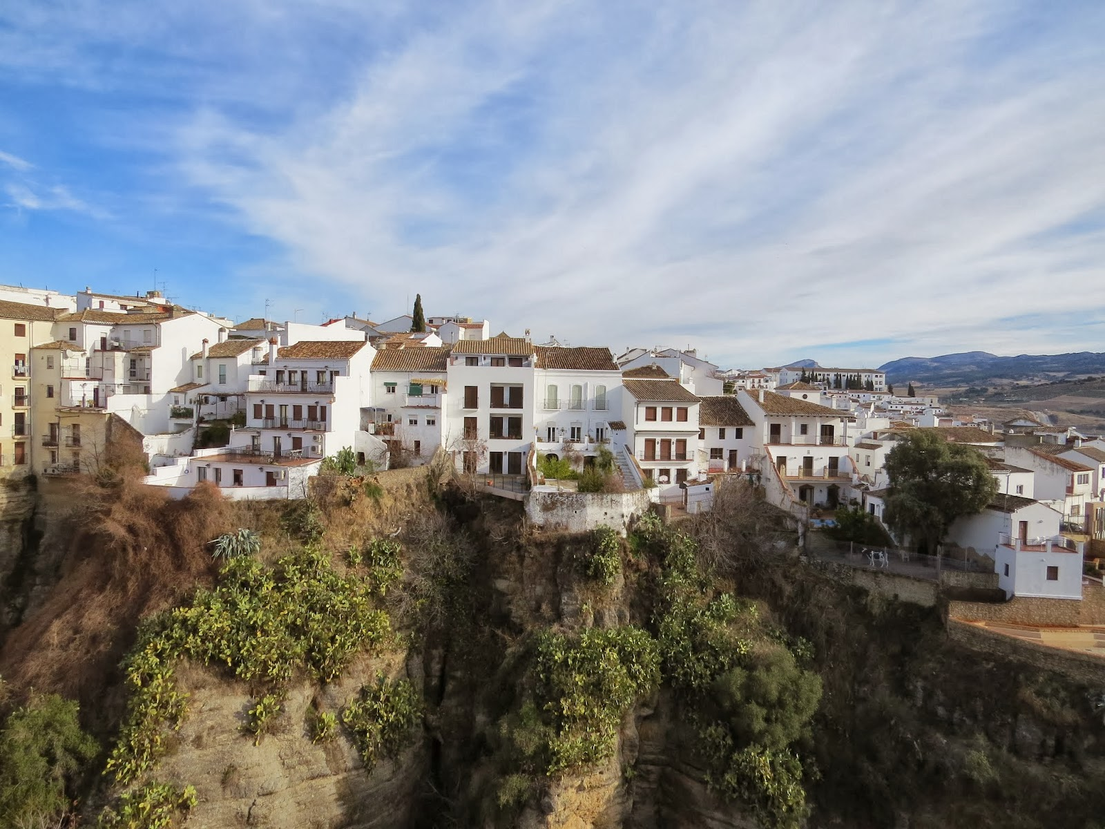 White-washed buildings in Ronda, Spain