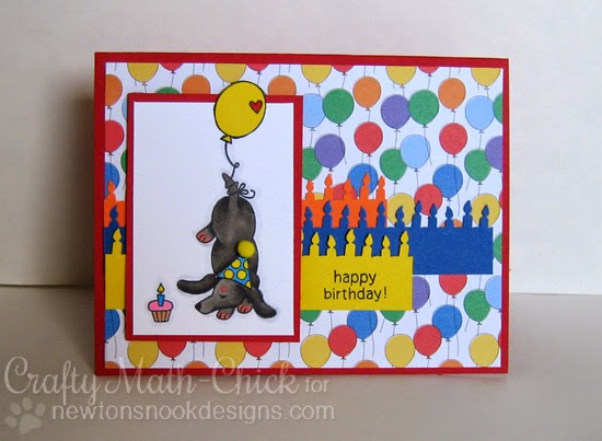 Doxie Birthday card by Crafty Math Chick | Delightful Doxies by Newton's Nook Designs