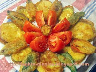Λαχανικά τηγανιτά με χυλό μπύρας - από «Τα φαγητά της γιαγιάς»