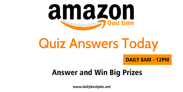 Amazon Quiz Today Answers 26 December 2018 Win Big Prizes