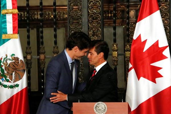 Las fotos y memes que deja la visita de Justin Trudeau a México