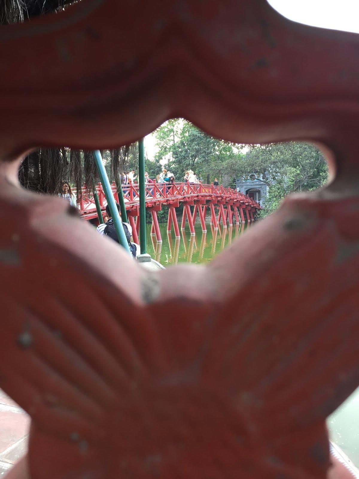 Red Bridge in Hanoi, Vietnam