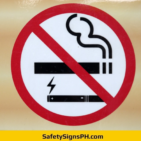 Circular No Smoking Sign