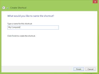 Memberi Nama Pada Shortcut